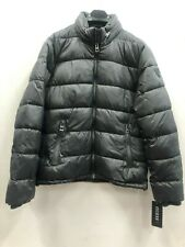 NWT GUESS Men's Puffer Motorcycle Jacket Slate Grey size: M NEW