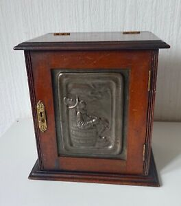 VINTAGE 20TH CENTURY WOODEN SMOKERS CABINET