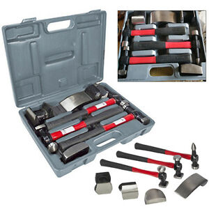 7X Hammers Car Auto Body Panel Repair Tool Fibre Handles Beating Hammer Set