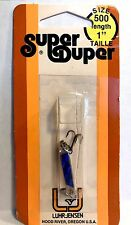 "Luhr-Jensen Vintage Super Duper Chrome/ Blue Size 500, 1"" long"