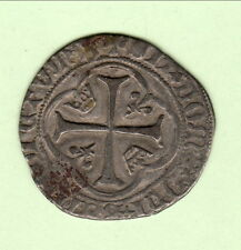 CHARLES VIII 1422/1461 BLANC COURONNES  BOURGES  poids 2gr50