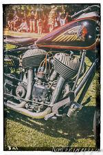 12x18 in. Poster Indian Motorcycle Vintage Garage Art Man Cave Harley Davidson