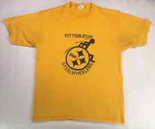 Vintage Pittsburgh Steel Wheelers Gold T-shirt XL, Steelers Logo, Single Stitch