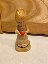 Anri Wood Carving Italy Sarah Kay Gift Of Love Girl with Heart Collector Club 4�