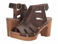 sz 7.5 / 38 NEW DANSKO Demetra Teak /brown  Women's heel slingback sandals