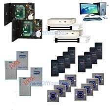 8 Door Smart Access Control Kits works With HID ISOProx 1326 1386 26-Bit H10301