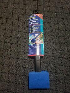"Penn Plax Wizard Heavy-Duty Aquarium Cleaner & Scraper 18"" New"