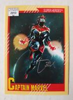 "2013 Fleer Retro Marvel ""1991 Impel"" #2 (Captain Marvel) Dexter Soy On-Card Auto"