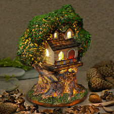 New Garden Glow-Solar Fairy House -Fairy Tree House -Home of Cornwitch 20cm