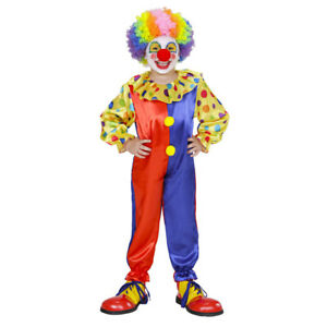 CLOWN KOSTÜM KINDER Karneval Fasching Harlekin Zirkus Party Jungen Mädchen 9545