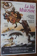 Used - Cartel de Cine  LA ISLA MISTERIOSA  Vintage Movie Film Poster - Usado