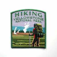 Official Yellowstone National Park Souvenir Patch Hiking Old Faithful Wyoming