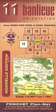 Carte Plan Net Ponchet nouvelle edition  N°11 banlieue yvelines 78 TB etat