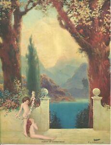 "R Atkinson Fox Garden of Contentment Original Calendar Print 9"" x 7"" c. 1927"