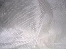 732J Vintage WHITE NYLON FLOCKED DOTTED SWISS Fabric 45W x 3-1/2YDS plus
