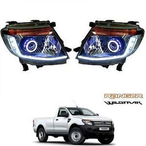 Fit 11-14 Ford Ranger T6 Projector Headlight Head Lamp Wildtrak Xlt Free Ship_