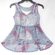 Epic Threads Girl's Size XL Blue Babydoll Tank Top