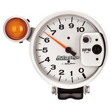 """AutoMeter Gauge TACHOMETER 5"""" 10K RPM PEDESTAL W/ EXT. SHIFT-LITE SILVER AUTO"""