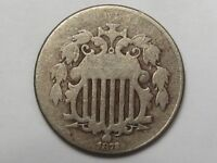AG Better-Date 1872 US Shield Nickel. 5¢.  #42