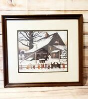 "Charles Wysocki Framed Print Cocoa Break at Copperfield 0B55 Large 17.5"" x 20"""