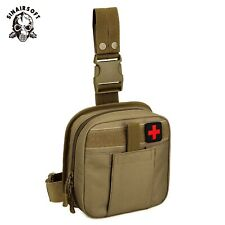 Adjustable Tactical EMT Drop Leg IFAK Medical Supply Pouch Bags MOLLE Thigh Pack