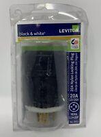 Leviton 2411 Nylon Locking Plug 20A L14-20p 125/250V