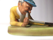 Golfer Figurine Aiming Up Shot Japan Porcelain Xu1470