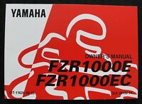 1990s YAMAHA 1000 FZR1000E FZR1000EC MOTORCYCLE OPERATOR OWNERS MANUAL REAL NICE