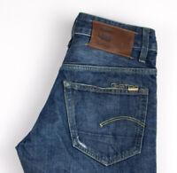 G-Star Raw Herren 3301 Niedrig Konisch Rl Jeans Größe W30 L32 AOZ545