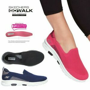 Skechers Womens Go Walk Prized Slip On Trainers Ladies Cushioned Sport Shoes
