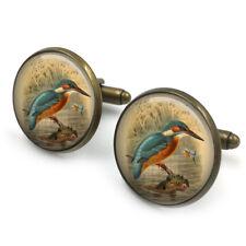 Kingfisher Cufflinks 20mm Cufflinks Cuff Links kingfisher art ,Gift for Him,Gift