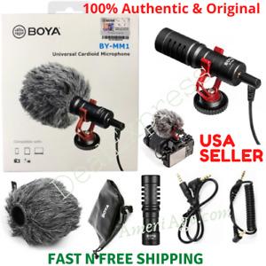 BOYA BY-MM1 UNIVERSAL Cardioid Shotgun Microphone Nikon Canon DSLR Smart Phones