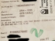General 223910 12/3C CHTC Tray Cable TC XHHW-2 Conductors XL-CPE Jacket /50ft