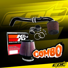For 08-15 Scion xB 2.4L 4cyl Black Cold Air Intake +  K&N Air Filter