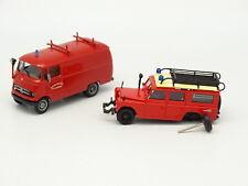 Roco Brekina 1/87 HO - Land Rover + Mercedes L319 Feuerwehr  Pompiers