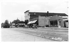 Morley MI~Appliance Store~Wringer Washer~Rough Brick Wall~Camper~RPPC 1940s