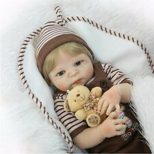 22'' Full Body Silicone Vinyl Reborn Baby Boy Dolls Lifelike newborn bebe toys