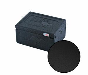Thermobox KÄNGABOX® Warmhaltebox Isolierbox Kühlbox MINI - 1,5 Liter, schwarz
