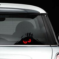 aufkleber stoßstange auto - vinyl monster gucken rote augen auto - aufkleber