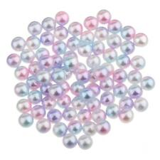 80Pcs 5mm Colored Plastic Pearl Beads Loose Beads Spacer DIY Jewelry Making