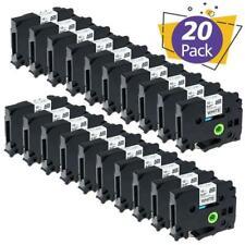 20pk Tz 231 Tze 231 Pt D210 P Touch Compatible Label Maker Tape 12mm For Brother