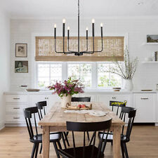 Rustic Farmhouse Chandelier 6 Light Candle Pendant Ceiling Fixture DIning Room