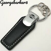 Nissan leather cars key ring keyring fob chain case holder gift for him her dad