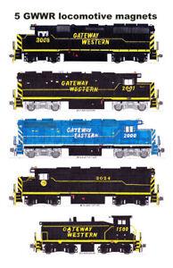 Gateway Western Locomotives 5 magnets Andy Fletcher