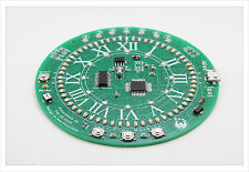 DIY electronic Kit -  Circular 80 LED clock atmega8 74hc595 DS1302 SMD Arduino