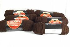 New ListingLot Of 6 Skeins Red Heart Yarn 100% Acrylic 3.5 oz In Coffee