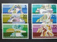 German DDR - 1975 - Winter Olympic Games, Innsbruck (1976). - 6 stamp set - MNH