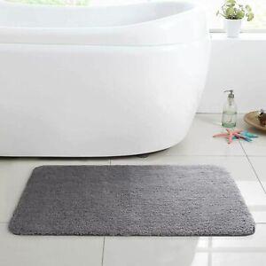 Gentsing Bath rug 32x20 Gray non slip extra thick