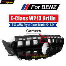 For Mercedes Benz E-class W213 Front Grille E63 AMG GT R Style E200 Black 2013+
