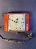 Vintage Art Deco Seth Thomas Electric Wall Clock E854-003 HITT -Untested